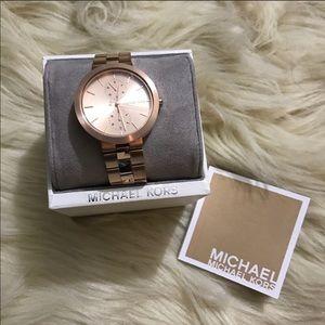 Michael Kors Garner Rose Gold-tone Watch